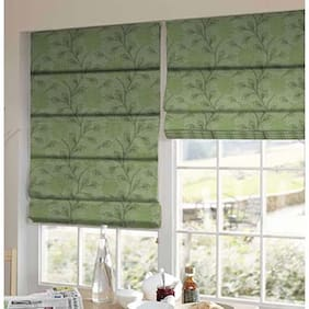 Presto Green Floral Jacquard Window Blind