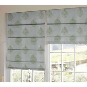 Presto Green Abstract Tissue Embroidered Window Blind