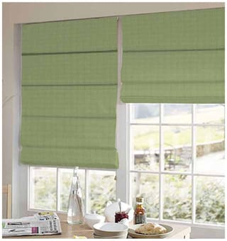 Presto Green Stripes Satin Window Blind