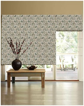 Presto Green Abstract Jacquard Window Blind