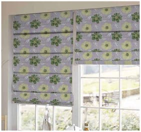 Presto Green Floral Printed Window Blind