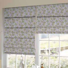 Presto Green Floral Printed Window Blind