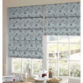 Presto Grey Floral Jacquard Window Blind