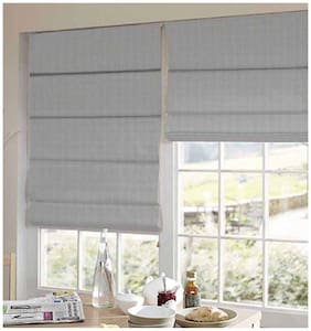 Presto Grey Stripes Satin Window Blind