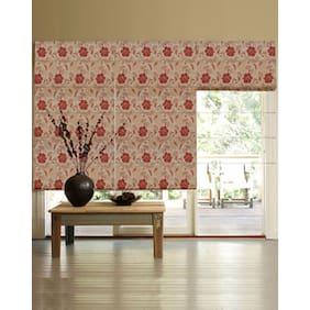 Presto Maroon Floral Jacquard Window Blind