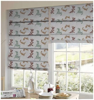 Presto Multi Color Abstract Tissue Embroidered Window Blind