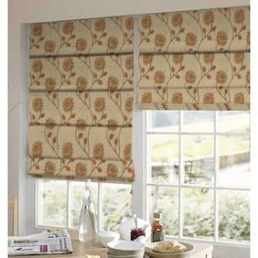 Presto Orange And Gold Floral Tissue Embroidered Window Blind