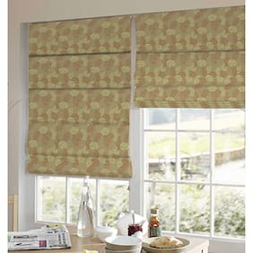 Presto Orange And Gold Floral Jacquard Window Blind