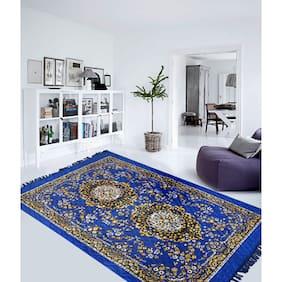PRESTO Polyester Blue Traditional Carpet