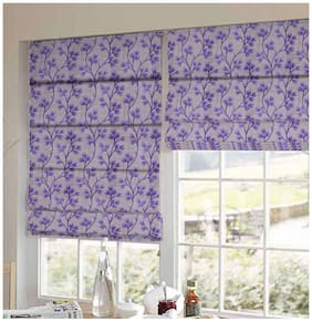 Presto Purple Floral Printed Window Blind