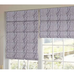 Presto Purple And Pink Floral Tissue Embroidered Window Blind