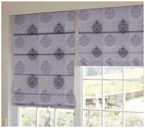 Presto Purple And Pink Abstract Tissue Embroidered Window Blind