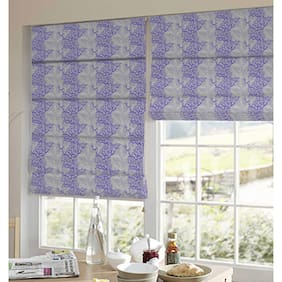 Presto Purple And Gold Abstract Jacquard Window Blind