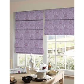 Presto Purple Abstract Jacquard Window Blind