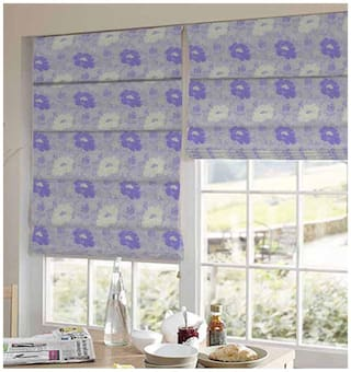 Presto Purple And Gold Floral Jacquard Window Blind