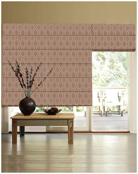 Presto Red Abstract Jacquard Window Blind