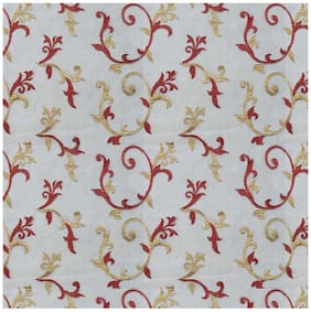 Presto Red And Gold Floral Tissue Embroidered Window Blind
