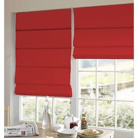 Presto Red Plain Satin Window Blind
