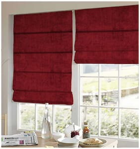 Presto Red Solid Velvet Window Blind