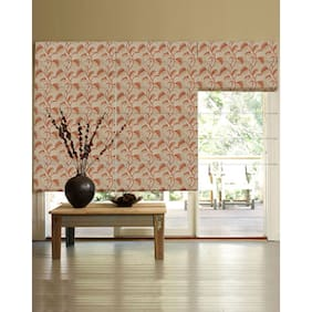 Presto Rust Floral Jacquard Window Blind