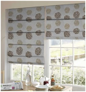 Presto Silver Floral Tissue Embroidered Window Blind