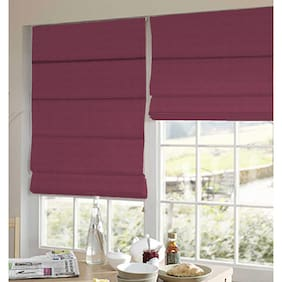 Presto Wine Stripes Satin Window Blind