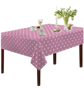 Printed Table Cloth - Pink Polka - 2 Seater