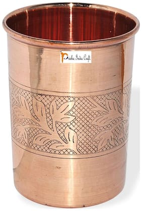 Prisha India Craft Copper Cup Water Tumbler Handmade Water Glasses