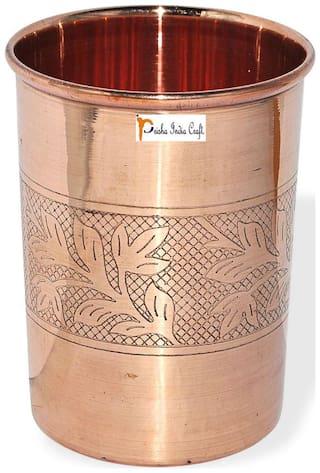 Prisha India Craft Copper Cup Water Tumbler Handmade Water Glasses