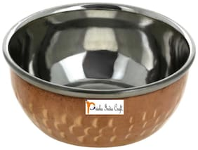 Prisha India Craft Steel Copper Serving Chutni Bowl Diameter 3.00 inch