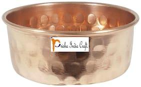 Prisha India Craft Pure Copper Serving Bowl  Dinner Bowl Serving Katoris - Dia 3.5