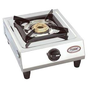 Prestige Prithvi 1 Burner Regular Silver Gas Stove ,