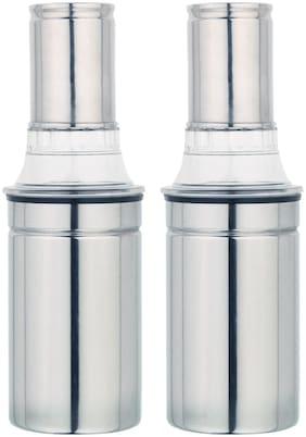 PRIYAJ 450 ml Stainless steel Oil & Vinegar Dispensers - Set of 2