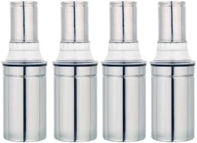 PRIYAJ 450 ml Stainless steel Oil & Vinegar Dispensers - Set of 4
