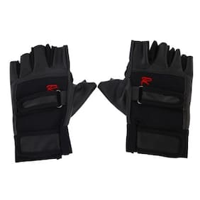 Pro Weight Lifting Gym Exercise Sport Fitness Sports Leather Gloves