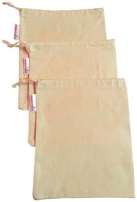 "PRODUCTMINE  Premium Vegetable Organiser Cloth Bags  Reusable Fridge Bags ( 9 "" X 12"" inch ) Pack of 3 Fridge Grocery Bags"