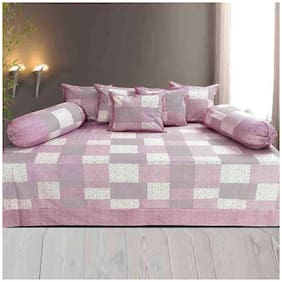 Profit blitz Cotton Abstract Single Size Diwan Sets - Pack of 8