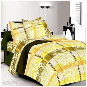 Profit blitz Cotton Abstract Double Size Bedsheet 240 TC ( 1 Bedsheet With 2 Pillow Covers , Multi )