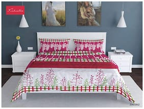 Profit blitz Microfiber Printed Double Size Bedsheet 144 TC ( 1 Bedsheet With 2 Pillow Covers , Multi )