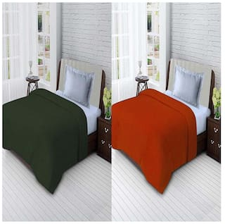 Profit Blitz Presents Combo of  All Seasons Single Bed Solid Polar Fleece Blankets For Mild Winter