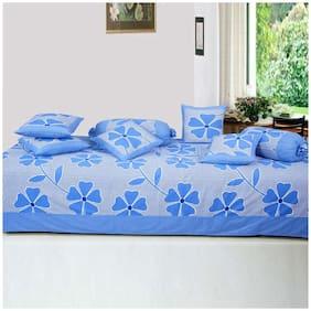 Profit blitz Cotton Floral Single Size Diwan Sets - Pack of 8