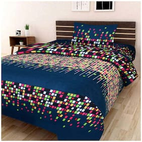 Profit Blitz Presents 3D PolyCotton Single Bedsheet With one Pillow Cover