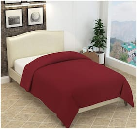 Profit blitz Maroon Color Single Plain Polar Fleece Blanket For Single Bed 55x80 inches