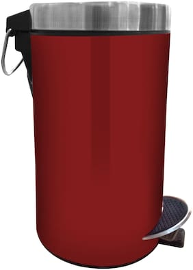 Profusion Stainless Steel Pedal Dustbin;Garbage Bin Plain With Plastic Bucket Inside