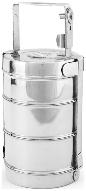 Profusion Silver Lunch box ( Set of 1 , 1000 ml )