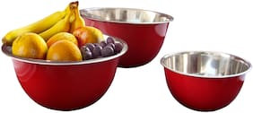 Profusion Stainless steel Microwave Safe Fruit Satin Bowl
