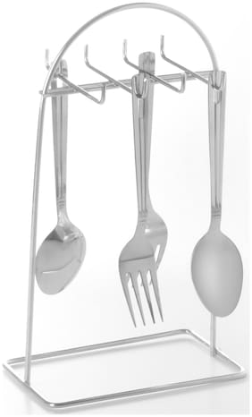 Profusion Stainless Steel Cutlery Stand/Spoon Holder/Knives Holder/Fork Stand New For 8Pc
