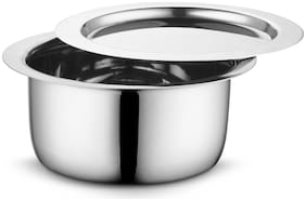 Profusion Stainless Steel Tope/patila/bhagona with stainleess steel lid- (Silver;1 PC- Capacity- 4 Litre)