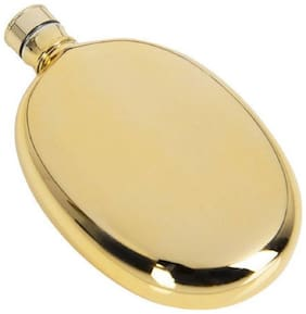 Protos Golden painted Hip Flask Stainless Steel 115 ml For Wine Whiskey Vodka Beverage