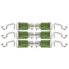 PRUSHTI FASHION SET OF 6 MADE GREEN FENCY CURTAIN BRACKET FOR DOOR&WINDOW